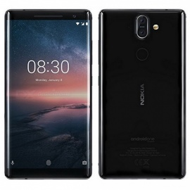 Nokia 8S TA-1005 Sirocco Smart Phone with 6GB RAM, 128GB ROM - Black