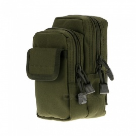 X-2 Small Portable Outdoor Anti-Scratch Sports Tactical Molle Purse, Waist Bag - Army Green