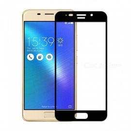 Naxtop 2.5D Full Screen Coverage Tempered Glass Protector for Asus Zenfone 3s Max ZC521TL - Black