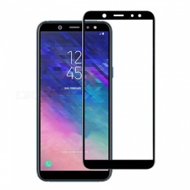 Naxtop 2.5D Full Screen Coverage Tempered Glass Protector for Samsung Galaxy A6+ (2018) - Black