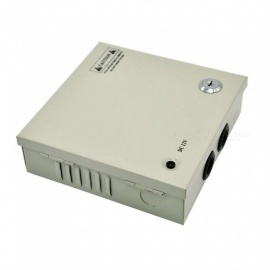 XSUNI 4 Channel 12V 3A 36W Centralized Box Security Monitoring Switching Power Supply - Silver