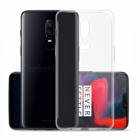 Ultra-Thin TPU Back Cases for OnePlus 6 - Transparent