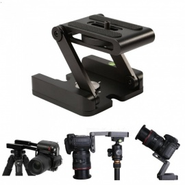 ESAMACT Z Shape Pan Tripod Head, Folding Z Type Tilt Head for Canon Nikon Sony DSLR Camera