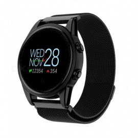 R13 Men's Smart Wrist Watch Sports Bracelet Fitness Tracker with Heart Rate Monitoring - Black