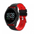 R13 Men's Smart Wrist Watch Sports Bracelet Fitness Tracker with Heart Rate Monitoring - Red