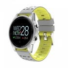 R13 Men's Smart Wrist Watch Sports Bracelet Fitness Tracker with Heart Rate Monitoring - Yellow