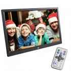 XSUNI 15.6 Inches Digital Photo Frame w/ LED Backlight, Full Function HD 1280 x 800 Electronic Album - Black (EU Plug)
