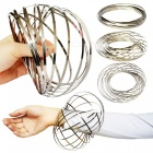 Novelty Stress Relief Hand Ring Toy, Magic Bracelet - Silver