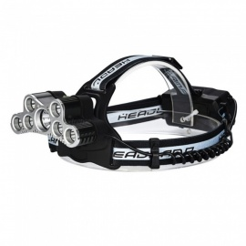 ZHISHUNJIA WY8123 CREE XM-L T6 7-LED USB Headlight, Powerful Flashlight Head Torch Lamp