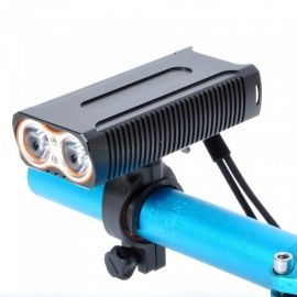 ZHISHUNJIA LR-Y6 T6 1600lm 4-Mode Flashlight Headlamp, USB Rechargeable Bicycle Lamp w/ 360 Degree Rotating Bracket