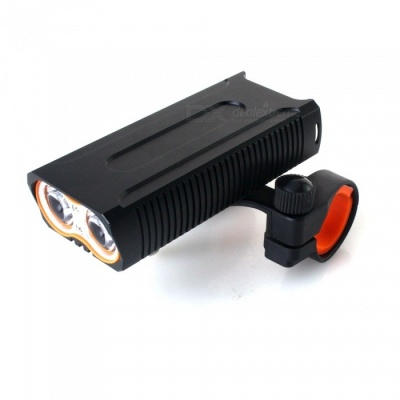 ZHISHUNJIA LR-Y6 T6 1600lm 4-Mode Flashlight Headlamp, USB Rechargeable Bicycle Lamp w/ Central Bracket