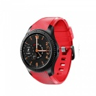 "1.3"" Round Screen Android Smart Watch Phone 3G Call with 8GB ROM, HD Camera - Red"