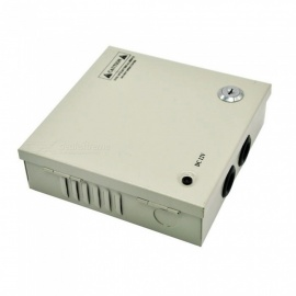 XSUNI 4 Channel 12V 5A 60W Centralized Box Security Monitoring Switching Power Supply - Silver