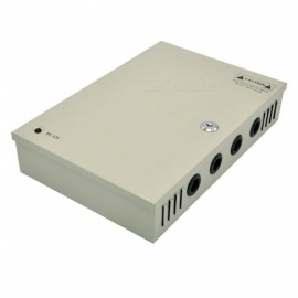 XSUNI 18 Channel 12V 30A 360W Centralized Box Security Monitoring Switching Power Supply - Silver