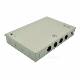 XSUNI 9 Channel 12V 5A 60W Centralized Box Security Monitoring Switching Power Supply - Silver
