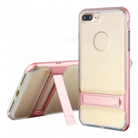 Naxtop 2-in-1 Transparent Soft TPU Back Cover+Hard PC Bumper Dual layer with Bracket for IPHONE 7 PLUS