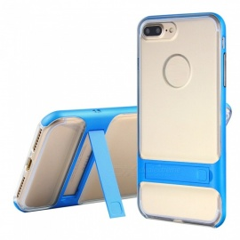 Naxtop 2-in-1 Transparent Soft TPU Back Cover+Hard PC Bumper Dual layer with Bracket for IPHONE 8 PLUS