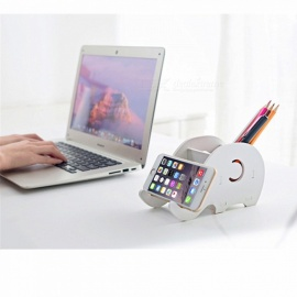 Portable Cute Elephant Shape Desktop Phone / Tablet Holder, Pen Holder Organizer