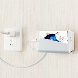 soporte creativo de carga de teléfono de pared tipo goma para IPHONE 7/8 / X / tableta - blanco