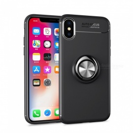 Dayspirit Car Holder Stand Magnetic Bracket Finger Ring TPU Case for IPHONE X