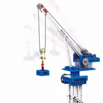 Power Machinery 4 In 1 Model Building Blocks Wange Technic Educational Toys Electronic Engineering Crane Assembly Block Multicolor