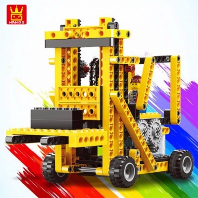 WANGE Building Block Toys Machinery Series 4 In1 Electronic Power Machinery 292pcs Bricks DIY Educational Kids Gifts NO. Multicolor
