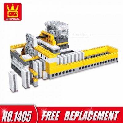 Block Toys 4 In1 Electronic Power Machinery 286pcs Bricks DIY Educational Kids Gifts Multicolor