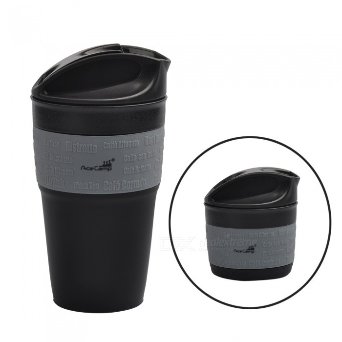 AceCamp Folding Collapsible Silicone Coffee Mug Cup�� Travel Portable Tea Water Bottle for Outdoor Camping Hiking Picnic Office