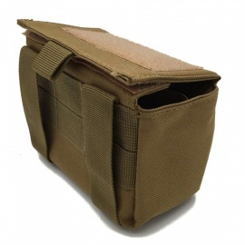 Outdoor Tactical Bullet Purse, Heavy-duty 15-Round Magazine Bag - Khaki