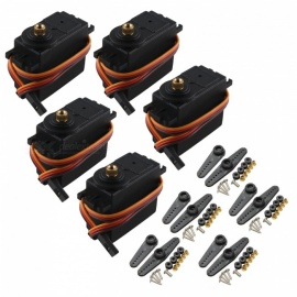 Hengjiaan 5pcs MG995 Metal Gear 13kg 55g High Speed Torque Digital Servos - Black