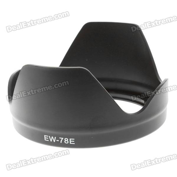 Camera Lens Hood for Canon EF-S 15-85mm f/3.5-5.6 IS USM-Model: EW-78E metal camera tripod ring mount c wii for canon ef 70 300mm f 4 5 5 6l is usm lens