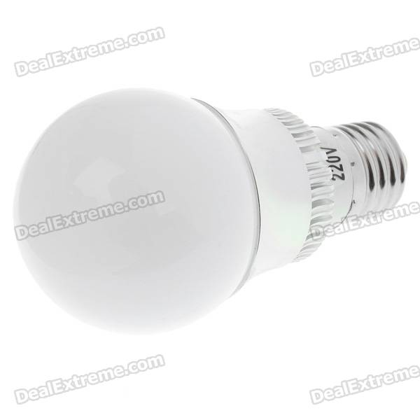 E27 3W 260-Lumen LED Warm White Light Bulb (3500K/220V) mr16 3w 3500k 260 lumen 3 led warm white light bulb 12v