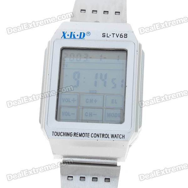 Universal Touch Screen TV/DVD/LD/VCR/VCD Remote Controller Wrist Watch with LED Backlight (1*CR2032)