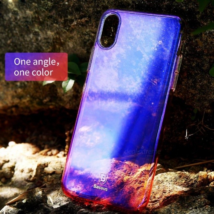 Baseus Gradient Color Shockproof Protective PC Back Case Cover For IPhone X