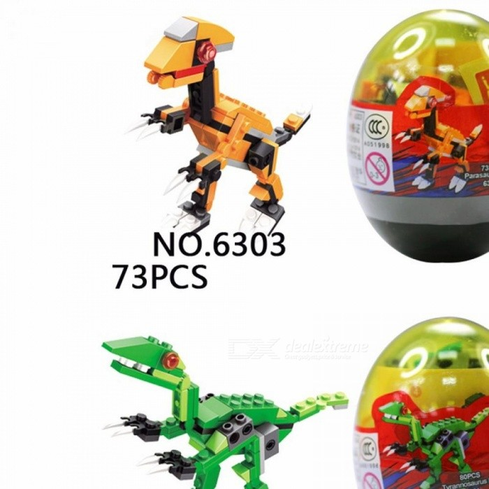 New Puzzle Building Blocks Toys Little Dinosaur Twisted Egg For Kids 6+ Years Old 6301-6306