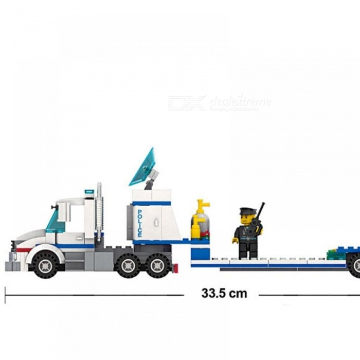 Wange  Building Kits Compatible With Lego City Police Helicopter Truck 993 Blocks Educational Toys Hobbies For Children