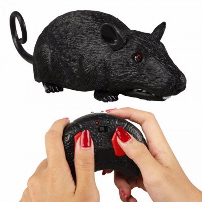 Electronic Pet Remote Control RC Simulation Light Flash Mouse Toy Model Tricky Prank Scary Robotic Insect Animal Toy