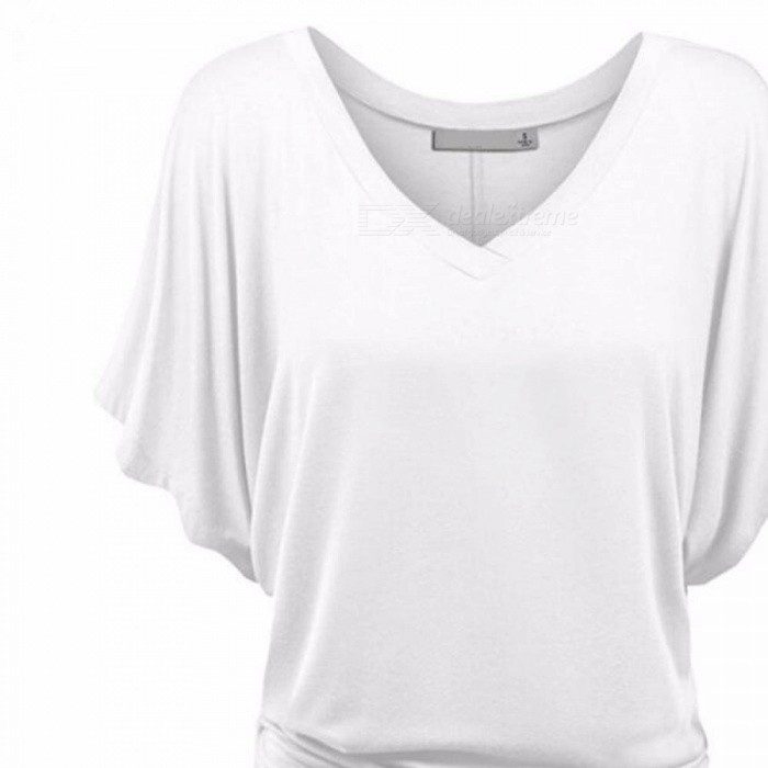 Women s Summer Bat Sleeves T-Shirt Clothes Fashion Sexy V-neck Short Sleeves T-shirt Tee Top Loose Casual Clothing