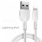HOCO USB Cable For IPhone 6 7 8 X 5 5s 2A Charger Data Sync Fast Charging Cable For IPad Mobile Phone Cable Charge Wire White / (Lightning Port)