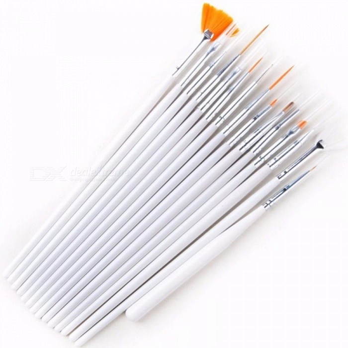 20pcsset Nail Tool Kit Nail Brush Dotting Painting Drawing Pen