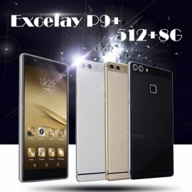 "Excelay P9+ Quad-Core Android Smartphone 512+8G 6.0"" Touchcreen Cell Phones Gold"