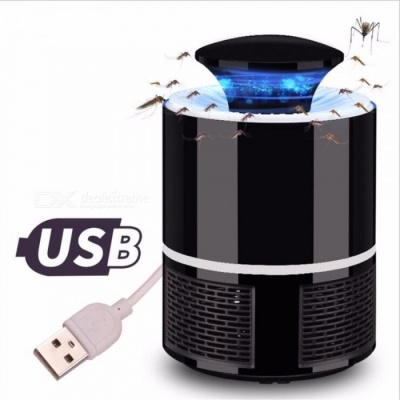 USB Electronics Mosquito Killer Trap Moth Fly Wasp LED Night Light Lamp Bug Insect Lights Killing Pest Zapper Repeller Black