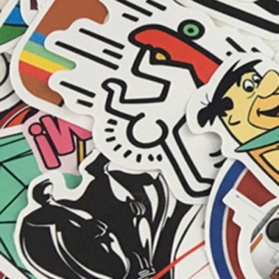 200PCS Waterproof Car Styling Doodle Stickers Graffiti Skateboard Guitar Snowboard Motorcycle Luggage Bags Accessories Black