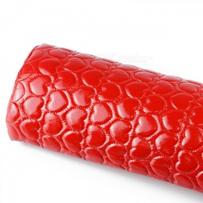 Nail Art Manicure Hand Arm Rest Pillow Cushion, PU Leather Holder Soft Manicure Nail Tool Equipment Pink