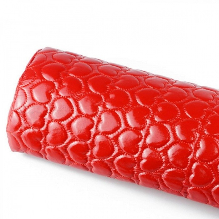 Nail Art Manicure Hand Arm Rest Pillow Cushion, PU Leather Holder Soft Manicure Nail Tool Equipment Silver