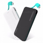 USAMS Ultra Slim 10000mAh Power Bank Powerbank, Mobile Phone 2.1A Output External Battery W/ Built-in Micro USB Cable White