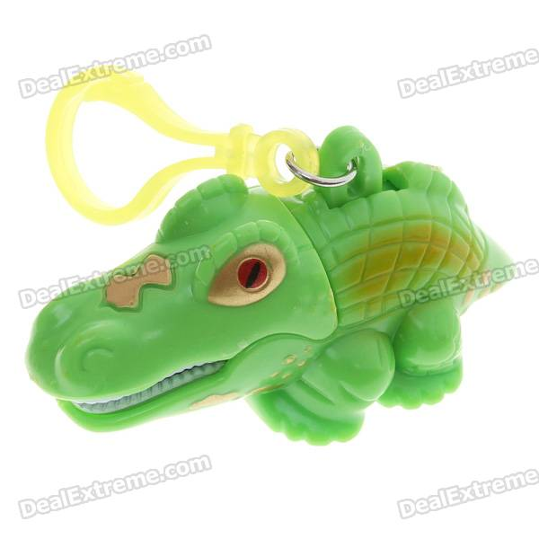 Creative Crocodile Style Keychain with Lights & Sounds (2*AG10)