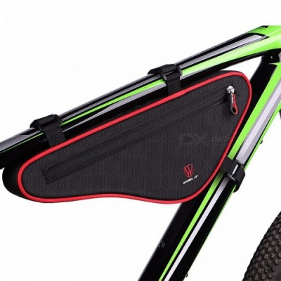Wheel Up Waterproof Outdoor Triangle Bicycle Front Tube Frame Bag Large Capacity Nylon MTB Cycling Front Bag Red