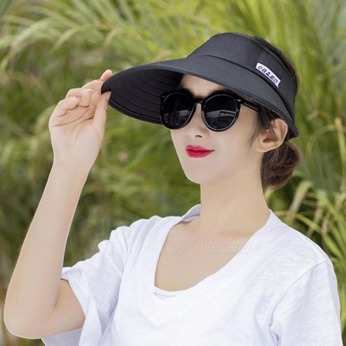 6d031662ee6 New Summer Sun Visor Ladies Outdoor Folding Large UV Protection Top Hat One  Size