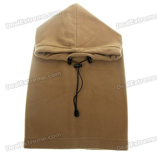 Stylish Winter Fleece Balaclava Scarf Hat Headgear - Coyote Tan